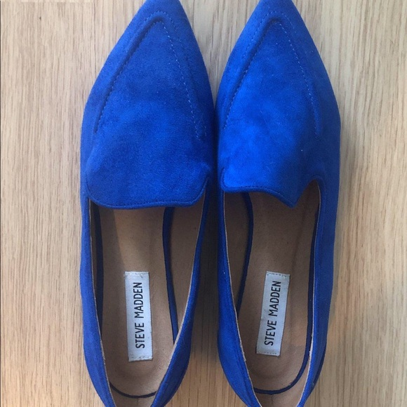 Never used Steve Madden Blue Loafers/Flats